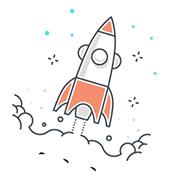 namalovaný obrázek rakety